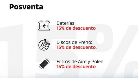 15% Dto. en recambios