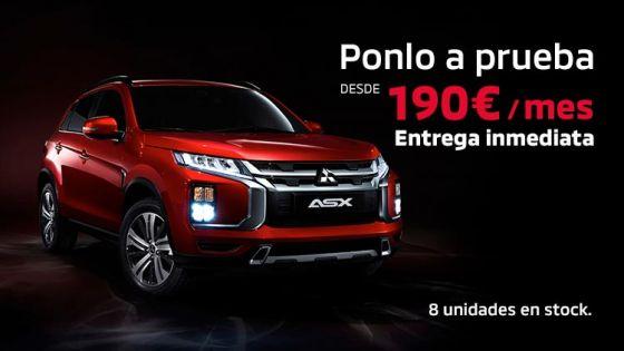 Mitsubishi ASX desde 190€/mes.